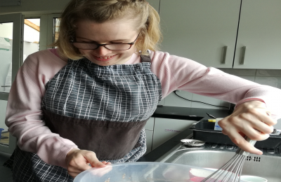 Cabrini residents in cooking workshop