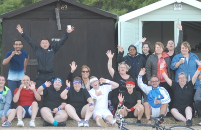 Diagrama Foundation: Edensor Care Centre staff celebrate the end of their team-building sports day