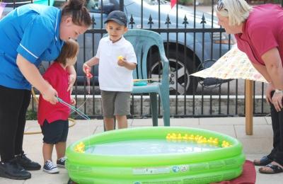 Little ones enjoyed the stalls at Edensor Care Centre's summer fete