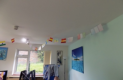 Diagrama Foundation: Cabrini House residents made handmade flags from their native countries