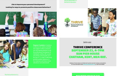 Thrive free conference for pre-school and teaching staff
