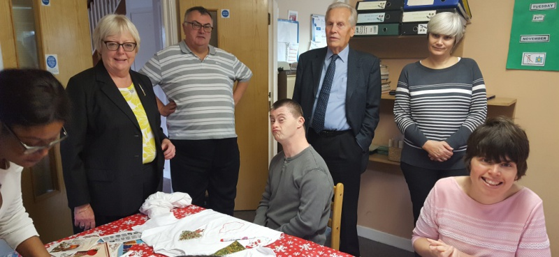 Diagrama Foundation: Cabrini House staff and residents meet with Bromley councillors