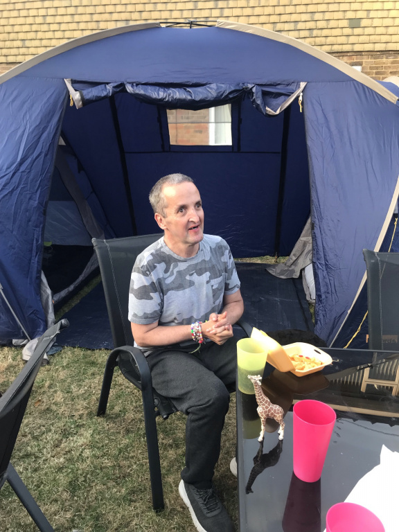 Cabrini residents go camping