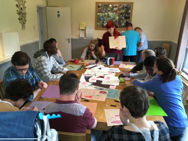 residents are cabrini house training artistic skills