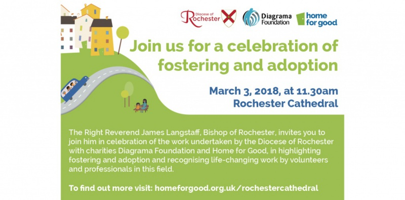 Invitation to attend Rochester Cathedral celebration of adoption and fostering