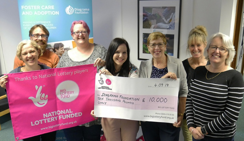 Diagrama's fostering team have been awarded National Lottery funding for training